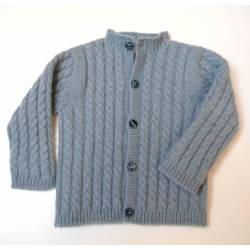 11 - Cashmere Lisboa baby cardigan all in cable-knit